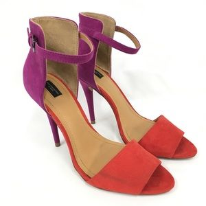 Zara Collection Peep Toe Heels Size: 40 (9 US)